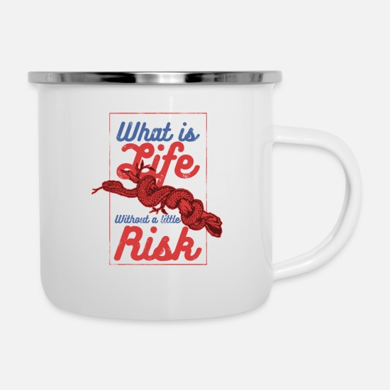 Monday Motivation Mugs & Drinkware - RISK - Enamel Mug white