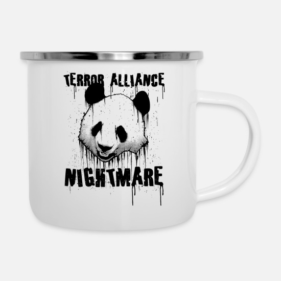 Gift Idea Mugs & Drinkware - panda - Enamel Mug white