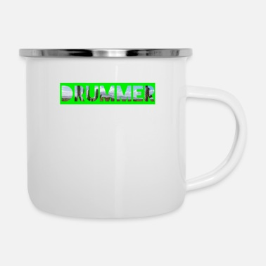 Band Drum Drum Gift Splash Cymbals Drum - Enamel Mug