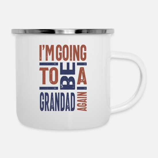 Father's Day Mugs & Drinkware - I'm going to be a Grandad Again - Enamel Mug white