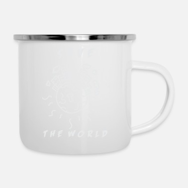 Planet Save the World - Emaille-Tasse