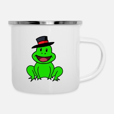 Like A Sir Frog Sir Gentleman Toad Fantasy Kids Baby - Emaille mok