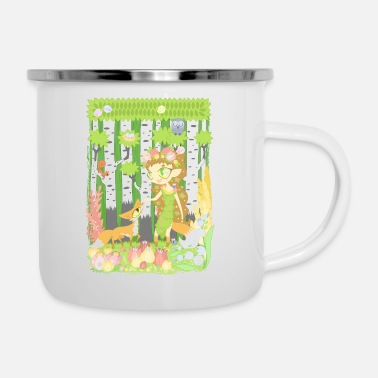 Unlike The Forest Council and the Fox - Enamel Mug