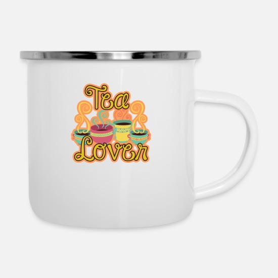 Thee Mokken & toebehoor - Tea Lover Bee Honey Gift - Emaille mok wit