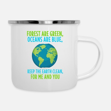 Eco Environmental Shirt Climate Change Eco Environmental Gift - Enamel Mug