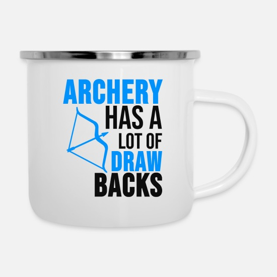 Gift Idea Mugs & Drinkware - Archery Shirt Archer Arrows Gift - Enamel Mug white