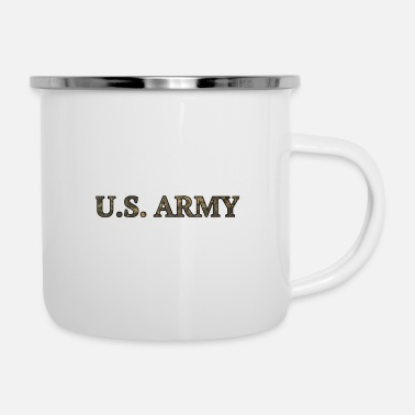Us US Army - Emaille-Tasse