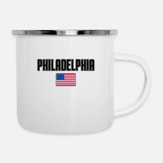 Usa Mugs & Drinkware - Philadelphia - Enamel Mug white