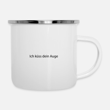 I kiss your eye Cool Youth Kids Culture - Enamel Mug