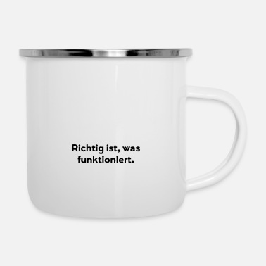 Meeting Right is what works. president - Enamel Mug