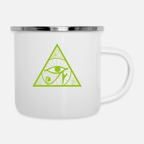 Symbol  Mugs & Drinkware - Mythology egypt religion symbol gift culture - Enamel Mug white