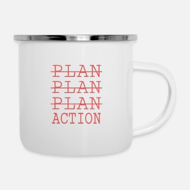 Action Action - Emaille-Tasse