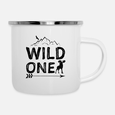 Wilderness Wild One - camping freedom trekking trip mountaineering - Enamel Mug