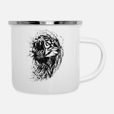 Painter Tiger - Paint - Emaille-Tasse