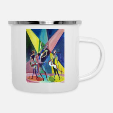 Rock The Vote Rockband - Emaille-Tasse