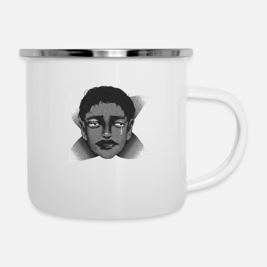 Face Mugs & Drinkware - The sad spring, sad spring - Enamel Mug white