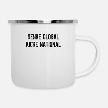 Global global national - Emaille-Tasse