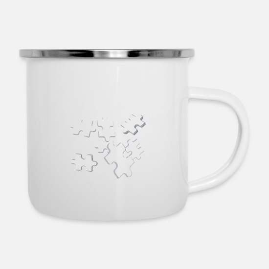 Game Mugs & Drinkware - puzzle - Enamel Mug white