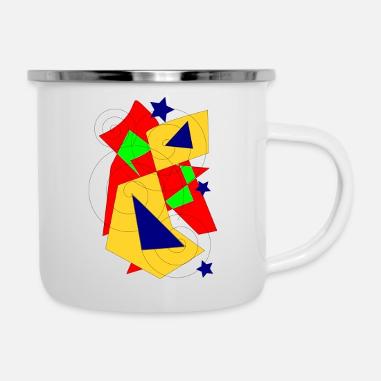 Red Mugs & Drinkware - to form - Enamel Mug white
