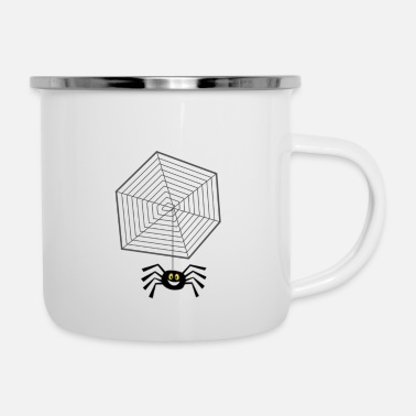 Net Net with spider - Enamel Mug