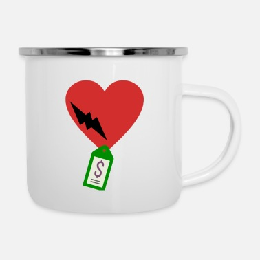 Broken heart for sale - Emaille-Tasse