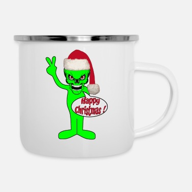 Happy Christmas happy christmas alien - Mug émaillé