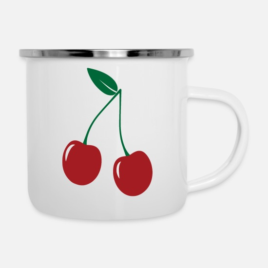 Black Forest Mugs & Drinkware - black forest Cherry Black Forest Gengenbach 03 - Enamel Mug white