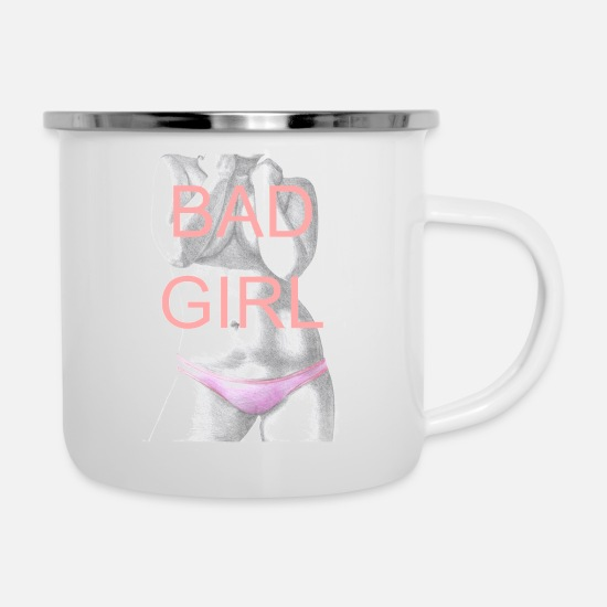 Swim Mugs & Drinkware - Bad girl - Enamel Mug white