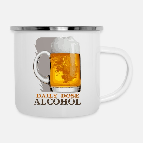 Vodka Mugs & Drinkware - Alcohol - Enamel Mug white
