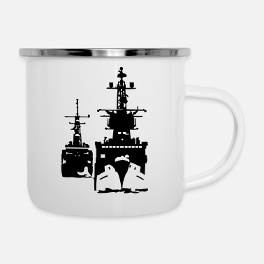 Navy NAVY ship - Emaille mok