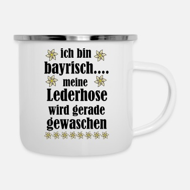 bayrisch Oktoberfest Party - Emaille-Tasse