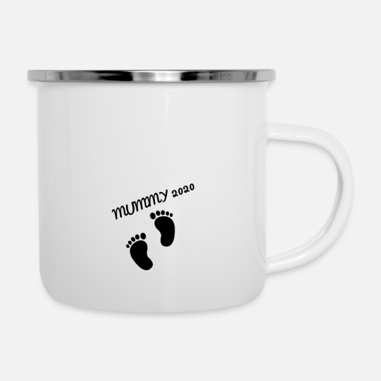Gift Idea Mugs & Drinkware - mom mummy 2020 - Enamel Mug white
