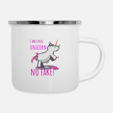 Falso unicorno - Tazza smaltata