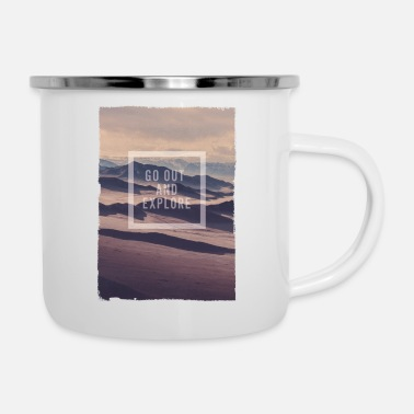 Go Out GO OUT AND EXPLORE - Enamel Mug