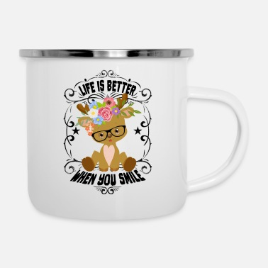 Life is better when you smile - Enamel Mug
