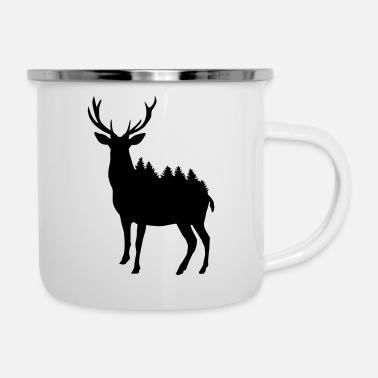 Zorro Deer and Forest - Taza esmaltada