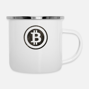 Logo Bitcoin nero BTC B - Tazza smaltata