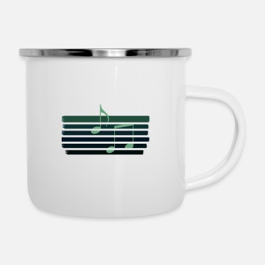 Music Lines Green Retro - Tazza smaltata