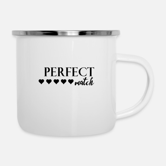 Love Mugs & Drinkware - perfect match - Enamel Mug white