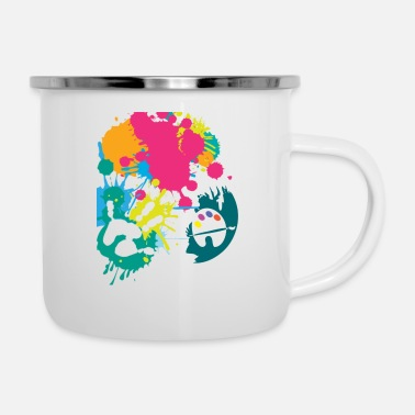 Farbe Farbe - Emaille-Tasse