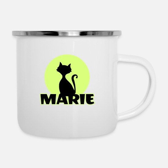 Marie Mugs & Drinkware - Marie Name First name - Enamel Mug white