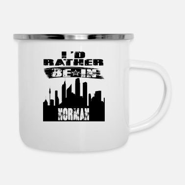 Norman Gift Id rather be in Norman - Enamel Mug