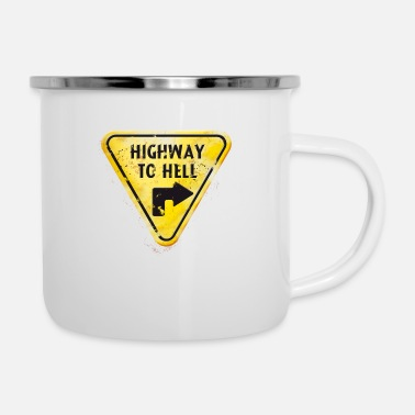 Cybergothic offground triangle highway to hell damaged - Emaille-Tasse