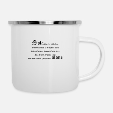 Theologie Solas_ - Emaille-Tasse