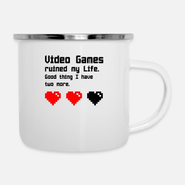 Video video Games - Enamel Mug