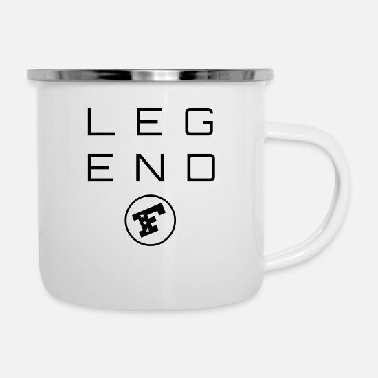Awesome Mugs & Drinkware - LEGEND F - Enamel Mug white