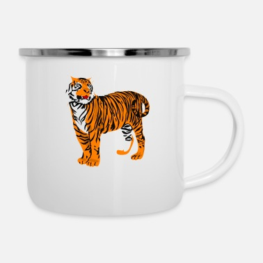 Big Big tiger - Emaille-Tasse