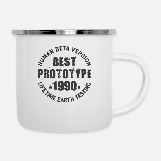Birthday Mugs & Drinkware - 1990 - The birth year of legendary prototypes - Enamel Mug white