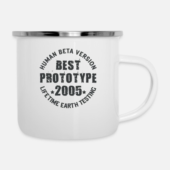 Birthday Mugs & Drinkware - 2005 - The birth year of legendary prototypes - Enamel Mug white