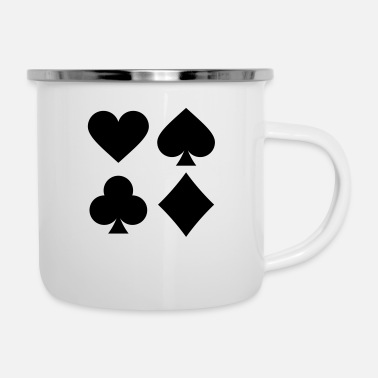 Pik Playing Cards - Emaille-Tasse